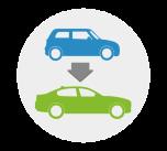 Overbouw van auto A naar B